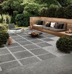 Small Backyard Design, Backyard Patio Designs, Modern Backyard, Small Backyard Landscaping, Backyard Ideas, Modern Landscaping, Garden Ideas, Wood Tiles, Public Spaces