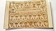 New York Yankees 1932 AL Champions Team Real Photo Postcard RPPC #NewYorkYankees #NewYorkYankees