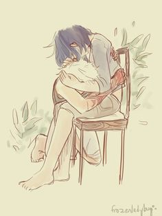 This is just so sweet - Kaneki & Touka by frozenladybug @ Tumblr (check 'em out!)