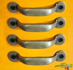 4 pcs antique vintage solid brass simple retro pull knob drawer handle just i