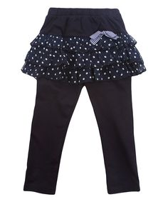 Look at this Blue Skirted Leggings - Infant, Toddler & Girls on #zulily today!