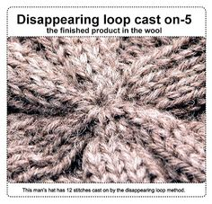 For knitted garments started in the center like my circular coats, finished product in the wool disappearing loop cast on