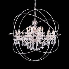 Art Deco Crystal Chandelier   Elegant Lighting