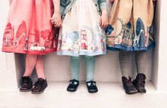 Poppy printed dressers and striped tights.