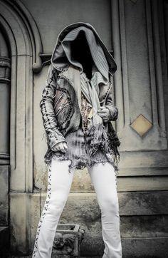 Image of TOXIC VISION Destroyed warrior biker jacket