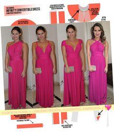 VESTIDO DE FESTA VERSÁTIL! Genial! - Fashionismo http://www.fashionismo.com.br/2015/03/infinity-dress-vestido-de-festa-versatil/
