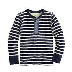 Boys' stripe henley