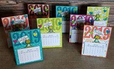 calendars by Sandra Budde Calendar Notes, Calendar Ideas, Christmas Craft Show, 3d Paper Crafts, Desk Calendars, Scrapbook Albums, Scrapbooking, Stamping Up, Craft Fairs