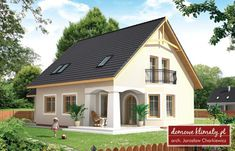 Projekt domu Alabaster bis 146.57 m² - Domowe Klimaty Dream House Plans, Home Fashion, Shed, Outdoor Structures, How To Plan, Mansions, House Styles, Building, Home Decor