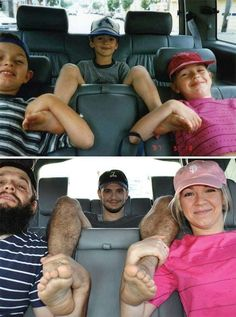 These childhood photo recreations are touching and hilarious. From brothers recreating pics to a disturbing baby photo recreation, I couldn't stop laughing. Recreated Family Photos, Childhood Photos Recreated, Awkward Family Photos, Photo Recreation, Funny Memes, Hilarious, Family Humor, Funny Photos, Family Photographer