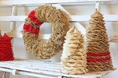 burlap christmas tree burlap ornaments christmas craft ideas burlap wreath