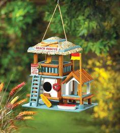 Beach Rescue Birdhouse or Fairy House