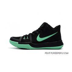Girls Nike Kyrie 3 Black Grass Green Top Deals