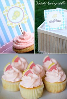 Rasberry Lemonade Cupcakes