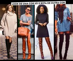"Botas ""over the knees"" para baixinhas 