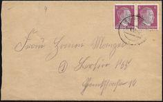 Inlandsbrief im Fernverkehr bis 20 g vom 12. April 1945 aus Torgelow (RPD Stettin - preußische Provinz Pommern) nach Berlin. Der Brief wurde portorichtig in Mehrfachfrankatur mit 12 Reichspfennig (2 x Mi.-Nr. 785 - Ausgabe vom 1. August 1941) frankiert und mit dem Zweikreisstegstempel TORGELOW (POM) / a abgeschlagen.