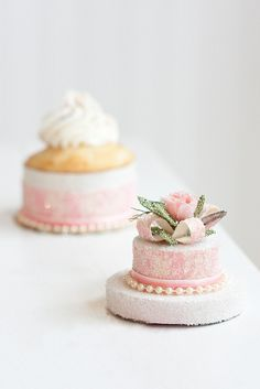 ... ♥...Mini Cakes... ♥... This is what I want at my wedding reception. Maybe a little display on every table in all different flavors!