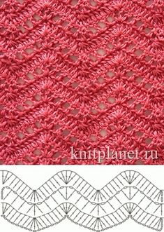 Open, lacy ripple stitch...