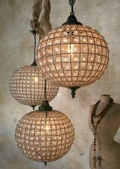 Eloquence Globe Chandelier contemporary-chandeliers - All About Decoration Lampe Retro, Deco Luminaire, Globe Chandelier, Globe Lamps, Beaded Chandelier, Globe Pendant, Chandelier Lighting, Birdcage Chandelier, Entry Chandelier