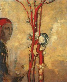 Odilon Redon - 'The Red Tree'