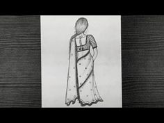 How To Draw A Girl Wearing Indian Saree || Traditional Girl Drawing || Step By Step ||Pencil Drawing - YouTube Girl Drawing Sketches, Cartoon Girl Drawing, Girl Sketch, Step By Step Drawing, Girl Cartoon, Pencil Drawings, Art Drawings, Beautiful Girl Drawing, Girl Standing