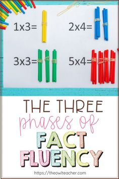 Do you know the three phases of fact fluency? Are you teaching through them to make sure your students are learning their basic multiplication and division facts? Check out this post to make sure! Teaching Multiplication Facts, Math Fact Fluency, Math Facts, Multiplication Strategies, Math Fractions, Teaching Strategies, Teaching Writing, Montessori, World History Teaching