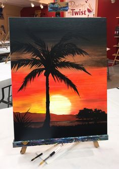 Check out Painting with a Twist's events in Houston, TX - Katy to uncover your next painting party! Read more to find out about upcoming painting events. Cute Canvas Paintings, Easy Canvas Painting, Mini Canvas Art, Simple Acrylic Paintings, Art Aquarelle, Watercolor Paintings, Art Sur Toile, Silhouette Painting, Pastel Art