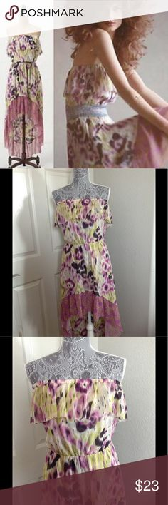 Anthropologie high low summer dress Rare anthropologie dress, size medium. great condition. Dresses High Low