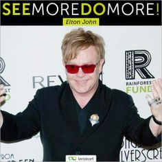 #SeeMoreDoMore  #EltonJohn left his school at the age of 17 to pursue a career in the #music industry. In his five-decades long career, Elton has sold more than 300 million records, making him one of the best-selling music artists in the world. Truly a man who saw more and did more for the entertainment industry and redefined music.  www.Lenskart.com