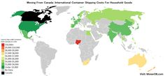 International Container Shipping Rates from Canada