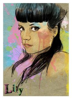 i-am-mark: New illustration! Lily Allen