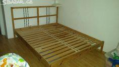 1000 Praha bez matr, 160 x 200 Dřevěný rám postele vč. roštů zn. Ikea, - obrázek číslo 1