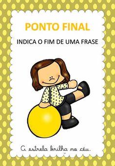 Cards com os sinais de pontuação Classroom Charts, Learn Portuguese, School Colors, Special Education, Homeschool, Clip Art, Teaching, Activities, Writing