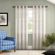 August Grove Arignote Solid Blackout Thermal Grommet Panel Pair Size : W x L, Curtain Color: White Patio Curtains, Grommet Curtains, Elegant Curtains, Colorful Curtains, Curtain Sets, Curtain Panels, Striped Room, Insulated Panels, Blackout Panels