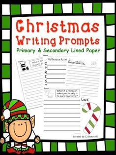 Get your students excited about Christmas as they share this special holiday season. This packet contains fifteen writing prompts that are on primary lines or secondary lines.