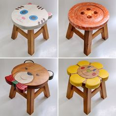 23 Clever DIY Christmas Decoration Ideas By Crafty Panda Painting Kids Furniture, Home Decor Furniture, Wood Furniture, Woodworking Projects That Sell, Woodworking Crafts, Baby Decor, Kids Decor, Painted Stools, Homemade Furniture