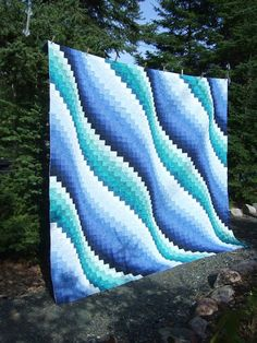 Surf Song pattern from Eileen Wright's book Twist & Turn Bargello