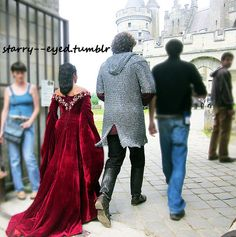 Angel and Rupert arriving at the Castle 20/06/12