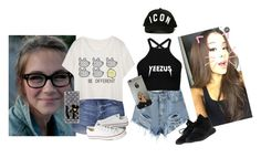 """""""Me and my bff Amanda"""" by mebstyles ❤ liked on Polyvore featuring Topshop, Casetify, Dsquared2, Converse and adidas"""
