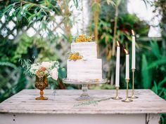 #cake-table  Photography: Daniel Kim Photography - danielkimphoto.com/  Read More: http://www.stylemepretty.com/2014/12/11/beachside-arboretum-shoot-at-shelldance-orchid-gardens/