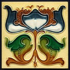 Art Nouveau Majolica Tile - Date: 1904 (registered) | JV