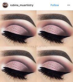 Loving this pink eye shadow
