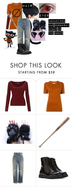 """""""Humanized Mae Borowski Outfit - Night In The Woods"""" by purple-storm-angel ❤ liked on Polyvore featuring Miss Selfridge, Étoile Isabel Marant, Louisville Slugger, Golden Goose and Forever 21"""