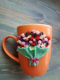 Кружка «Букет цветов» Посмотрите запись, чтобы узнать подробности. // Наталья Макарова