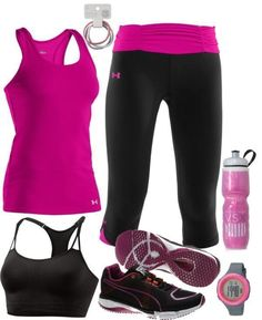 Work-Out Outfit Women's Gym Clothes | Fitness apparel | running clothes http://www.FitnessGirlApparel.com