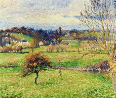 Field at Eragny, 1885 - Camille Pissarro - WikiArt.org