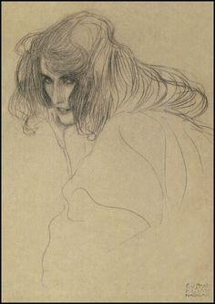 gustav klimt pencil drawings  | Gustav Klimt — pencil drawing