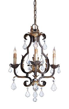 Currey & Company - 9829 - Small Tuscan Chandelier with Swarovski Crystals $985.60 Lamps.com