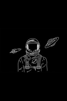 Inspiring image art, astronaut, illustration, space by Bobbym - Resolution - Find the image to your taste Planets Wallpaper, Wallpaper Space, Tumblr Wallpaper, Dark Wallpaper, Galaxy Wallpaper, Wallpaper Quotes, Black Aesthetic Wallpaper, Aesthetic Iphone Wallpaper, Aesthetic Wallpapers