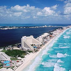 Cancun means differently in many people's point of view. As for college students, the spring break party spot; while for honeymooners, the holiday of Cancun is a romantic way to have . Mexico Vacation, Vacation Places, Mexico Travel, Vacation Destinations, Dream Vacations, Vacation Spots, Places To Travel, Places To See, Cancun Vacation